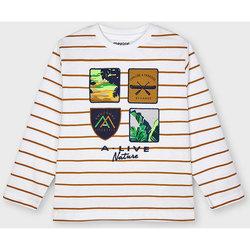 Abbigliamento Unisex bambino T-shirts a maniche lunghe Mayoral ATRMPN-26673 Bianco