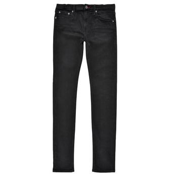 Abbigliamento Bambino Jeans skynny Teddy Smith FLASH SKINNY Nero