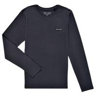 Abbigliamento Bambino T-shirts a maniche lunghe Teddy Smith T-NARK ML Marine