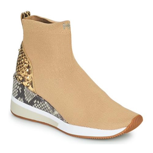 Scarpe Donna Sneakers alte MICHAEL Michael Kors SKYLER Camel