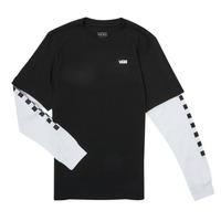 Abbigliamento Bambino T-shirts a maniche lunghe Vans LONG CHECK TWOFER Nero