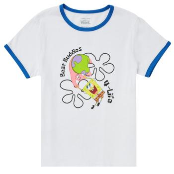 Abbigliamento Bambina T-shirt maniche corte Vans VANS X SPONGEBOB BEST BUDDIES RINGER Bianco
