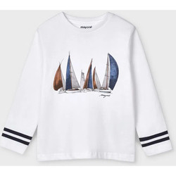 Abbigliamento Unisex bambino T-shirts a maniche lunghe Mayoral ATRMPN-26680 Bianco