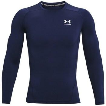 Abbigliamento Uomo T-shirts a maniche lunghe Under Armour Heatgear Armour Blu marino