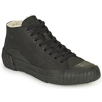 Scarpe Uomo Sneakers alte Kenzo TIGER CREST SHEARLING SNEAKERS Nero