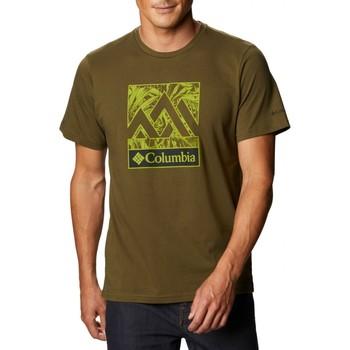 Abbigliamento Uomo T-shirt maniche corte Columbia Sportswear Rapid Ridge Graphic Tee Verde Verde
