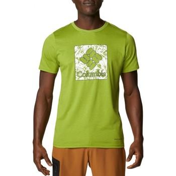 Abbigliamento Uomo T-shirt maniche corte Columbia Sportswear Sun Trek Short Sleeve Tee Verde Verde