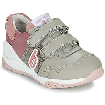 Scarpe Bambina Sneakers basse Biomecanics BIOEVOLUTION SPORT Grigio / Rosa