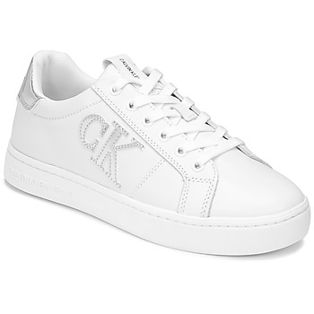 Scarpe Donna Sneakers basse Calvin Klein Jeans CUPSOLE LACEUP Bianco / Argento