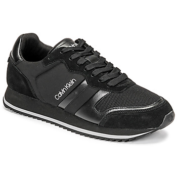 Scarpe Uomo Sneakers basse Calvin Klein Jeans LOW TOP LACE UP MIX Nero