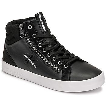 Scarpe Uomo Sneakers alte Calvin Klein Jeans VULCANIZED MID LACEUP Nero