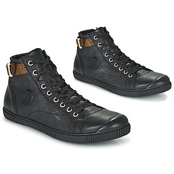Scarpe Donna Sneakers alte Pataugas LATSA Nero / Oro