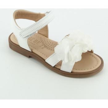 Scarpe Bambina Sandali Let Me Be 9857 sandalo fiori tulle Bianco