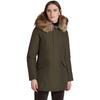 Abbigliamento Donna Piumini Woolrich Giaccone Verde militare