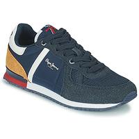 Scarpe Bambino Sneakers basse Pepe jeans SYDNEY COMBI BOY Marine / Marrone