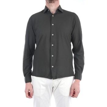 Abbigliamento Uomo Camicie maniche lunghe Filippo De Laurentis EFFUOCAMLSP-JCREPE Casual Uomo Militare Militare