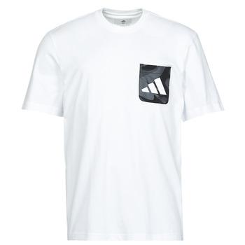 Abbigliamento Uomo T-shirt maniche corte adidas Performance CAMO PKT TEE Bianco