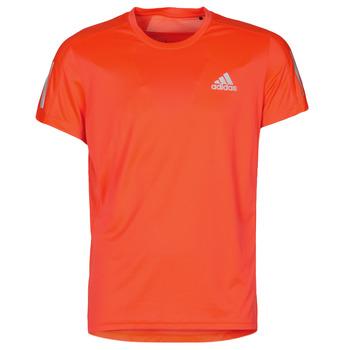 Abbigliamento Uomo T-shirt maniche corte adidas Performance OWN THE RUN TEE App / Solare / Red