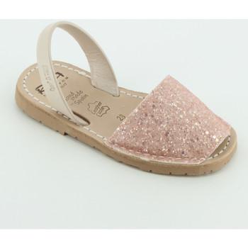 Scarpe Bambina Sandali Ria 21224 sandalo glitter Beige