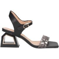 Scarpe Donna Sandali Exé Shoes MELANI-740 PITONATO/NERO