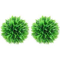 Casa Piante artificiali Vidaxl Sfere di Bosso Artificiale 2 pz 30 cm Verde