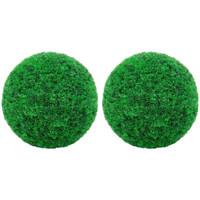 Casa Piante artificiali VidaXL Sfera di bosso artificiale 27 cm Verde