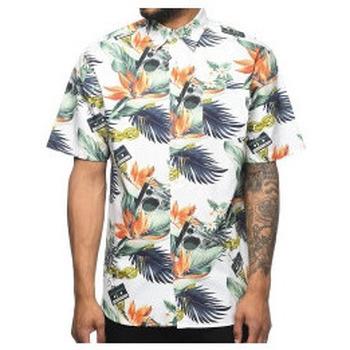 Abbigliamento Uomo Camicie maniche corte Dgk - Dirty Ghetto Kids DGK - Camicia Mixtape Floral Button Up Shirt - White Multicolore