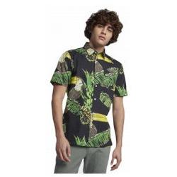 Abbigliamento Uomo Camicie maniche lunghe Hurley Camicia Manica Corta Toucan Black Multicolore