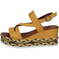 Scarpe Donna Sandali Bueno Shoes Q6002 GIALLO
