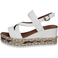 Scarpe Donna Sandali Bueno Shoes Q6002 BIANCO