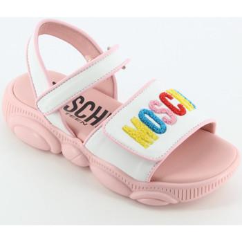 Scarpe Bambina Sandali Moschino 67459 sandalo logo Rosa