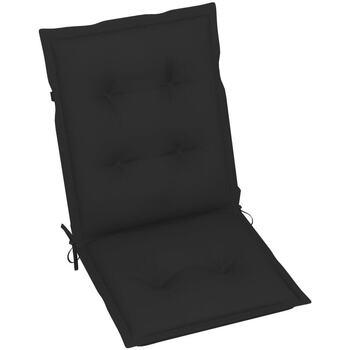 Casa cuscini VidaXL Cuscino per sedia da giardino 100 x 50 x 7 cm Nero