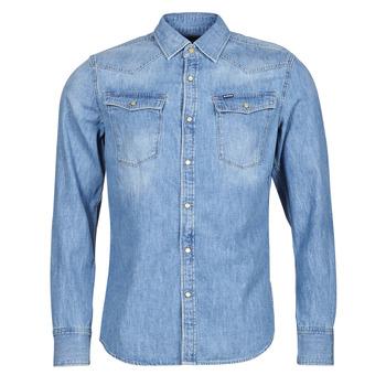 Abbigliamento Uomo Camicie maniche lunghe G-Star Raw 3301 SLIM SHIRT LS Blu
