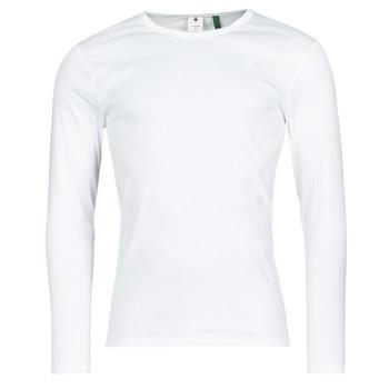 Abbigliamento Uomo T-shirts a maniche lunghe G-Star Raw BASE R T LS 1-PACK Bianco
