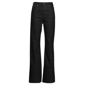 Abbigliamento Donna Jeans bootcut G-Star Raw DECK ULTRA HIGH WIDE LEG Nero