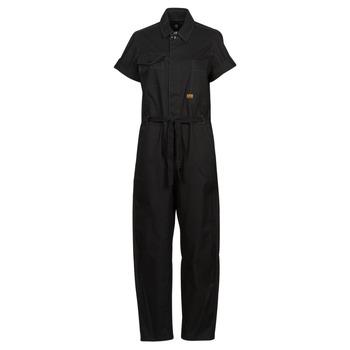 Abbigliamento Donna Tuta jumpsuit / Salopette G-Star Raw ARMY JUMPSUIT SS Nero