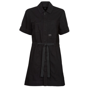 Abbigliamento Donna Abiti corti G-Star Raw ARMY DRESS SHORT SLEEVE Nero