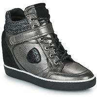Scarpe Donna Sneakers alte Philippe Morvan NOEK Nero / Argento