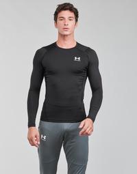 Abbigliamento Uomo T-shirts a maniche lunghe Under Armour UA HG ARMOUR COMP LS Nero / Bianco