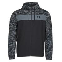 Abbigliamento Uomo giacca a vento Under Armour UA SPORTSTYLE CAMO WNDBKR Nero