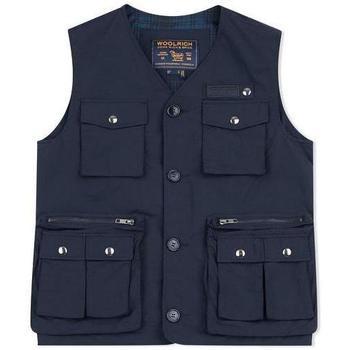 Abbigliamento Uomo Gilet / Cardigan Woolrich ATRMPN-26834 Blu