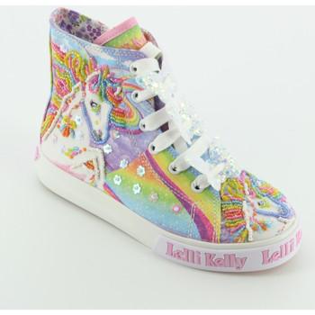 Scarpe Bambina Sneakers alte Lelli Kelly 9090 UNICORN sneaker alta Bianco