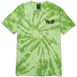 Abbigliamento Uomo T-shirt & Polo Huf T-shirt haze brush tie dye ss Verde