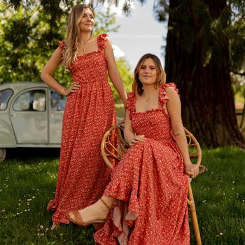 Abbigliamento Donna Abiti lunghi Céleste AURORE Rosso