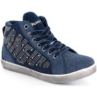 Scarpe Bambina Sneakers alte Canguro 37328 BLU