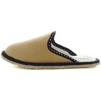 Scarpe Donna Pantofole Ciabatte Da Camera 47031 BEIGE