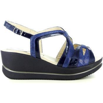 Scarpe Donna Sandali Confort 53115 BLU
