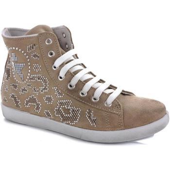 Scarpe Donna Sneakers alte Kioss 36762 BEIGE