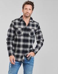 Abbigliamento Uomo Camicie maniche lunghe Volcom TONE STONE L/S Nero