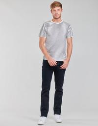 Abbigliamento Uomo Jeans dritti Lee BROOKLYN STRAIGHT Blu / Nero